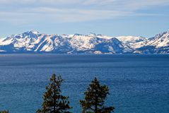 Lake Tahoe in winter Royalty Free Stock Photos