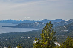 Lake Tahoe in winter. Amazing view of Lake Tahoe in winter Stock Image
