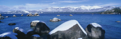 Lake Tahoe in winter, California Royalty Free Stock Photos