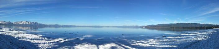 Lake Tahoe in winter. Lake Tahoe, Nevada, US, snow, Sky Royalty Free Stock Image