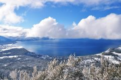 Lake Tahoe in winter Royalty Free Stock Photos