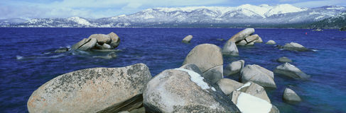 Lake Tahoe in Wintertime, Nevada Royalty Free Stock Photography
