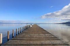 Lake- Tahoedock-Ansicht lizenzfreie stockbilder