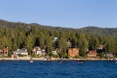 Lake- Tahoeufergegend-Häuser Lizenzfreie Stockfotografie