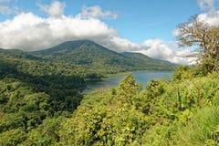 Tamblingan Lake in Bali. Lake Tamblingan is a caldera lake located in Buleleng Regency, Bali. The lake is located at the foot of Mount Lesung. The lake is one of Stock Images