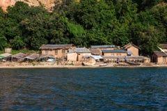 Lake Tanganyika fishing village Stock Images