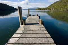 Lake Tarawera pier Royalty Free Stock Photography