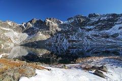 Lake in Tatras mountain, Slovakia Royalty Free Stock Images