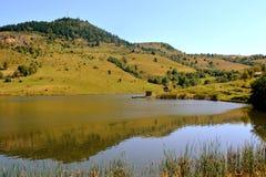 Lake 'Taul Mare' in  Rosia Montana, Apuseni Mountains, Transylvania. Rosia Montana is a commune of Alba County in the Apuseni Mountains of western Transylvania Stock Photos