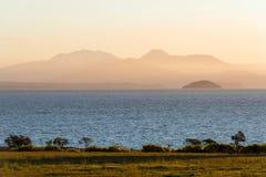 Lake Taupo at dusk, New Zealand Royalty Free Stock Photo