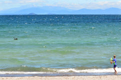 Lake Taupo New Zealand Stock Photo
