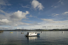 Lake Taupo New Zealand; boats on the water Royalty Free Stock Image