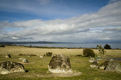 Lake Taupo New Zealand; landscape view Royalty Free Stock Photo