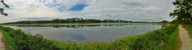 Lake Taylor in Largo Florida. Panoramic of Lake Taylor in Largo Florida, USA,  done in HDR Royalty Free Stock Images