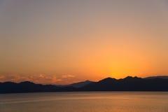 Lake Tazawa in Akita Stock Images