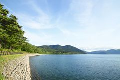 Lake Tazawa in summer Stock Images