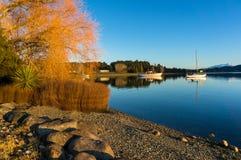 Lake Te Anau on dawn Royalty Free Stock Photography