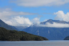 Lake Te Anau fiord landscape Stock Photo