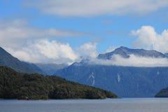 Lake Te Anau fiord landscape. Lake Te Anau, New Zealand fiord landscape Stock Photo