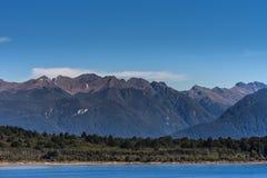 Lake Te Anau and mountains, New Zealand. Stock Image