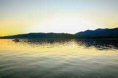 Lake Te Anau in New Zealand Stock Photos