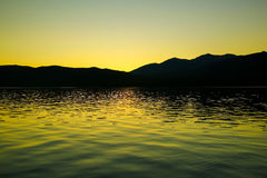 Lake Te Anau in New Zealand Royalty Free Stock Photos
