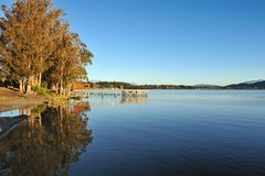 Lake Te Anau in south New Zealand. Landscape of lake Te Anau in south New Zealand Stock Photography