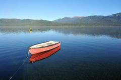 Lake Te Anau in south New Zealand Royalty Free Stock Photography