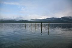 Lake Te Anau from the waterfront in Te Anau Royalty Free Stock Photos