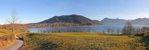 Lake tegernsee and alps, bavarian foothills Stock Images