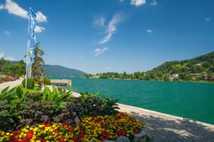 Lake Tegernsee in Bavaria Stock Photography