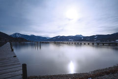 Lake Tegernsee, Germany, long time exposure Stock Photo