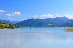 Lake tegernsee and mountains, bavarian alps Stock Photography