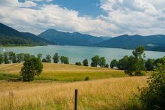 Lake Tegernsee near the city Gmund Royalty Free Stock Photography