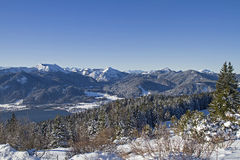 Lake Tegernsee in winter Royalty Free Stock Images