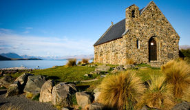Lake Tekapo. A small historical church located in Lake Tekapo, New Zealand. it is absolutely a stunning place to see royalty free stock photo