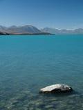 Lake Tekapo. Turquoise lake in new zealand Stock Photography