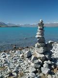 Lake tekapo. Turquoise lake in new zealand Royalty Free Stock Image