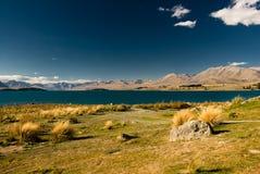 Lake tekapo. Scenic view of lake tekapo, new zealand Royalty Free Stock Photos
