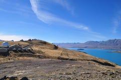 Lake Tekapo. Beautiful Nature surrounding Lake Tekapo, New Zealand stock photography