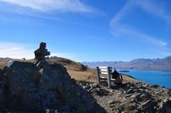 Lake Tekapo. Beautiful Nature surrounding Lake Tekapo, New Zealand royalty free stock images