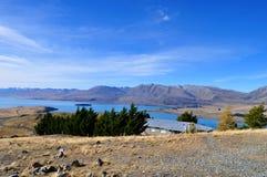Lake Tekapo. Beautiful Nature surrounding Lake Tekapo, New Zealand royalty free stock photography