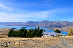 Lake Tekapo. Beautiful Nature surrounding Lake Tekapo, New Zealand stock photos