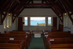 Lake Tekapo, Church of the Good Shepherd Stock Image
