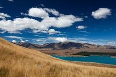 LAKE TEKAPO, MACKENZIE COUNTRY/NEW ZEALAND - FEBRUARY 23 : View Stock Image