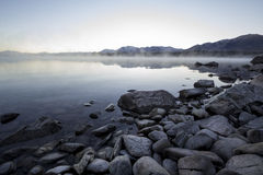 Lake Tekapo morning mist / fog Royalty Free Stock Image