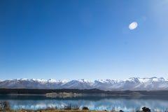 LAKE TEKAPO AND MOUNT COOK NEW ZEALAND. The view of lake Tekapo with Mount Cook Background, New Zealand. See more through travel lifestyle Stock Photos