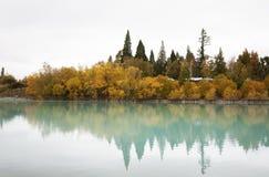 The Lake Tekapo. In New Zealand Royalty Free Stock Photo