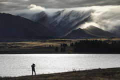 Lake Tekapo. In New Zealand Royalty Free Stock Images