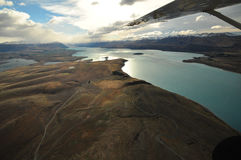 Lake Tekapo, New Zealand Landscape. From aerial view Stock Image